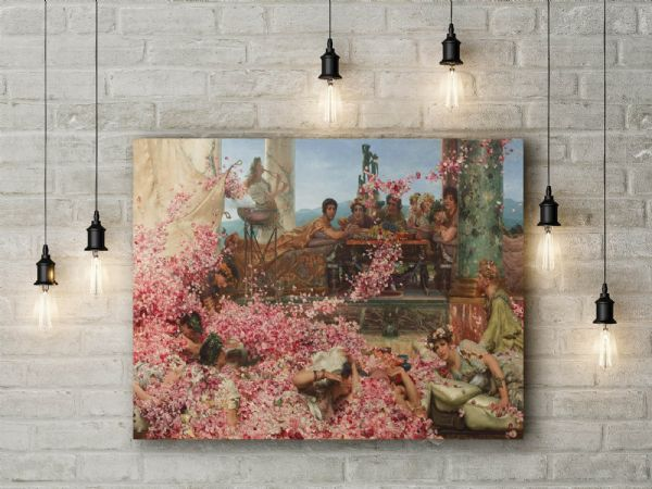 Alma-Tadema, Sir Lawrence: The Roses of Heliogabalus. Fine Art Canvas.
